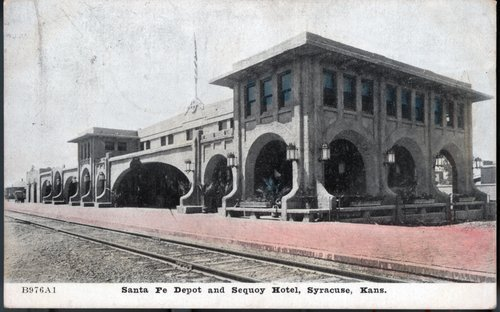Atchison, Topeka & Santa Fe Railway Company depot & The Fred Harvey Sequoyah Hotel, Syracuse, Kansas - Page