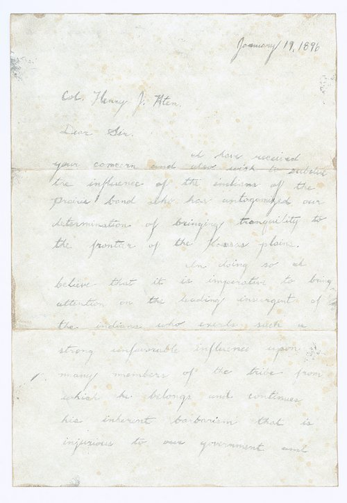 L. F. Pearson to Henry J. Aten - Page