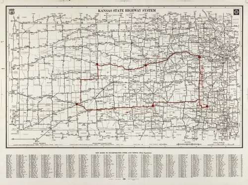 Kansas state highway system. Outline of Ratner-Wilbur civil defense trip - Page