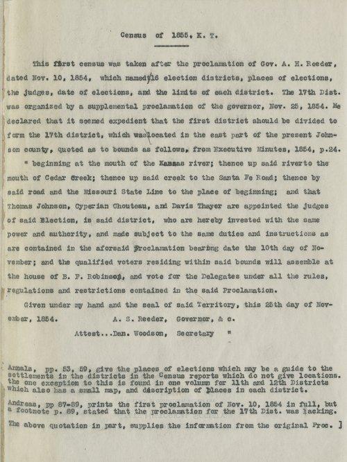 Kansas territorial census, 1855. District 17 - Page