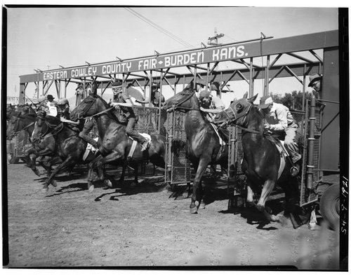 Horse racing, Burden, Kansas - Page