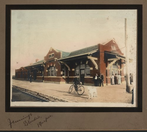 Atchison, Topeka and Santa Fe Railway Company depot, Harper, Kansas - Page