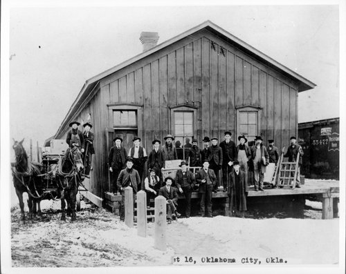 Atchison, Topeka and Santa Fe Railway Company's freight depot, Guthrie, Oklahoma - Page