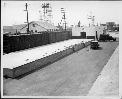 Atchison, Topeka & Santa Fe Railway Company's freight station, Long Beach, California - Page