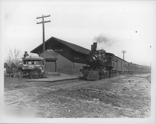 Atchison, Topeka & Santa Fe Railway Company's steam locomotive, Burlingame, Kansas - Page
