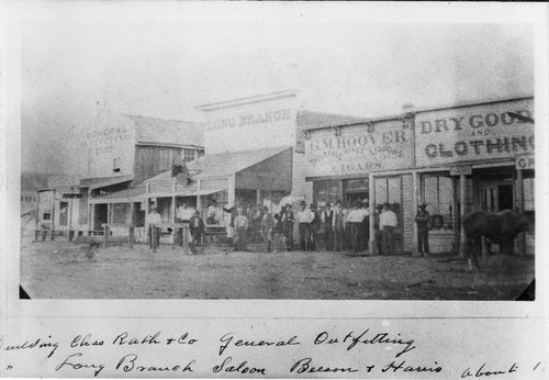 A view of the Dodge City,  Kansas, business district in 1875 - Page