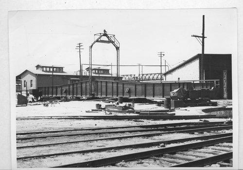 Atchison Topeka and Santa Fe Railway Company's roundhouse, Kansas City, Kansas. - Page