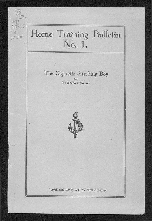 The cigarette smoking boy - Page