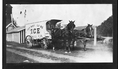 Fernan (?) Lake Ice Company ice wagon, Hoxie, Kansas - Page
