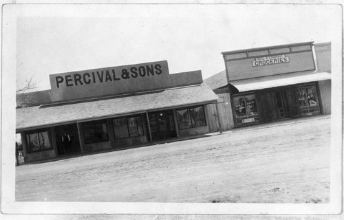 Percival and Sons and Hill and Company groceries, Hoxie, Kansas - Page