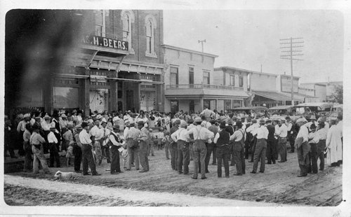 Men meeting in Hoxie, Kansas - Page