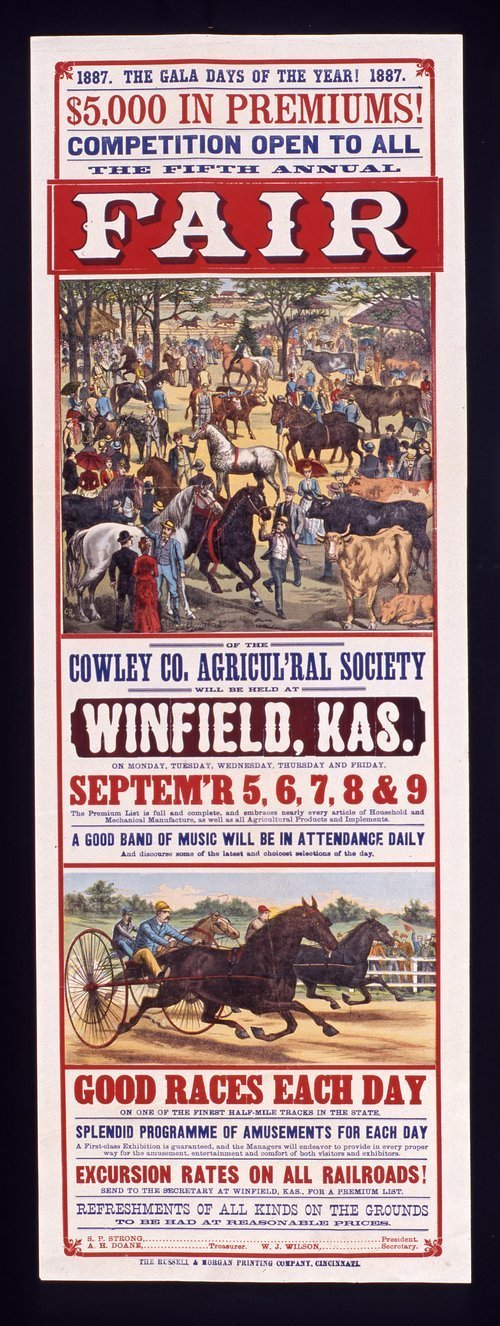 The fifth annual fair of the Cowley County Agricultural Society, Winfield, Kansas - Page