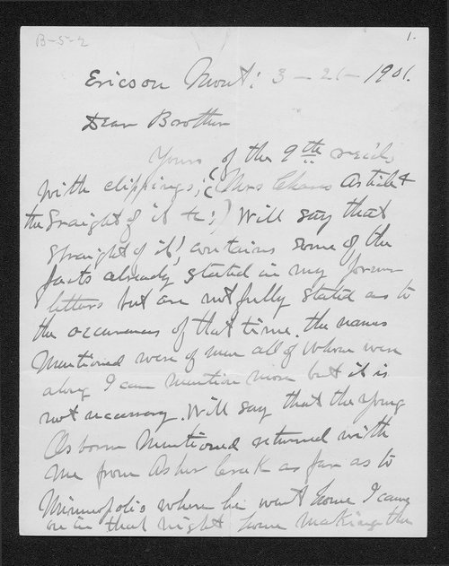 Hiram Bickerdyke to James R. Bickerdyke - Page