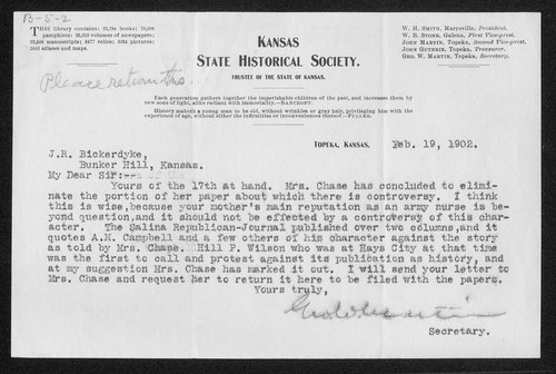 George Washington Martin to James R. Bickerdyke - Page