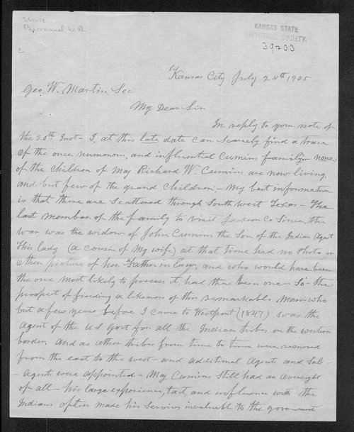W.R. Bernard to George Washington Martin - Page