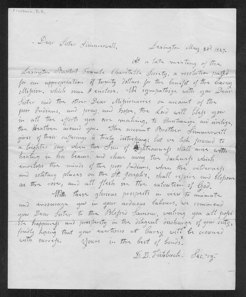 D.D. Fishbank to Mrs. Francis Simmerwell - Page