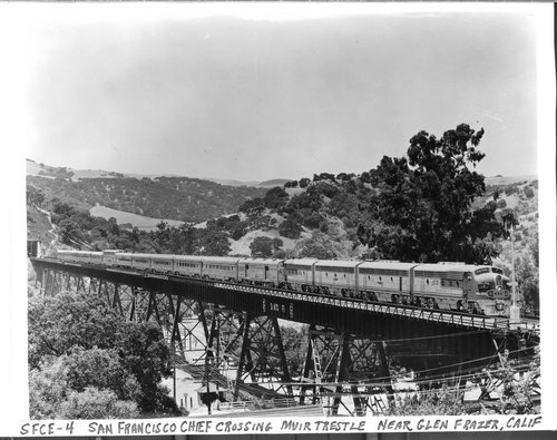 Atchison, Topeka & Santa Fe Railway Company's San Francisco Chief', Glen Frazer, California - Page