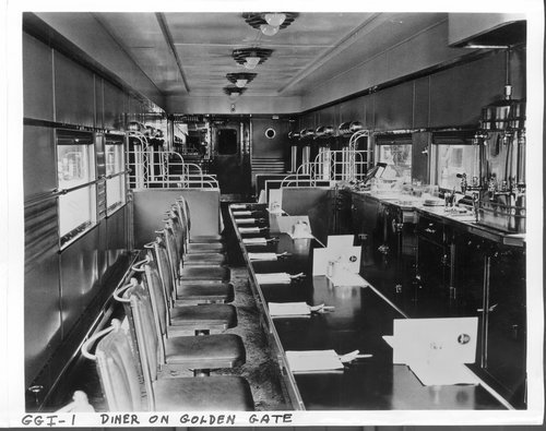 Atchison, Topeka & Santa Fe Railway's Golden Gate diner car - Page