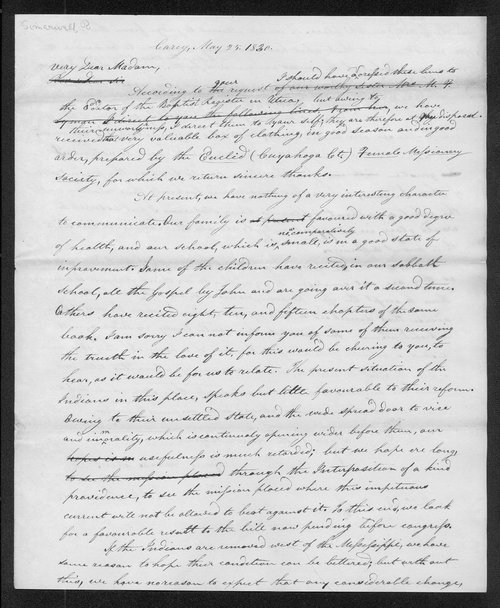 Robert Simerwell to Mrs. Mary T. Lyman - Page