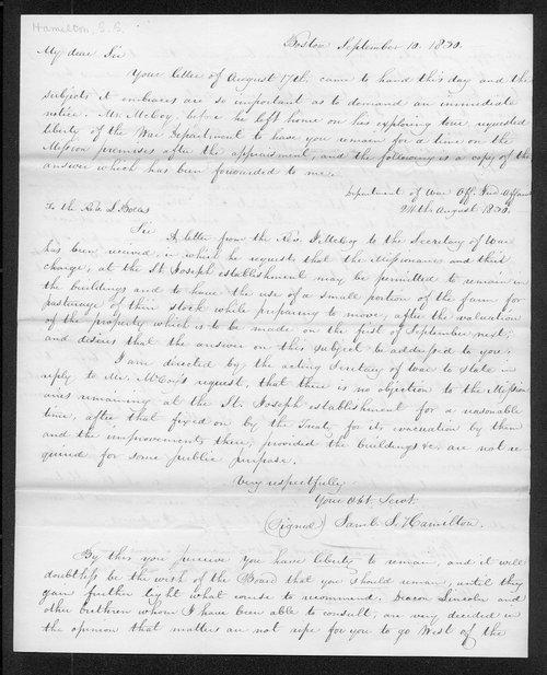Samuel S. Hamilton to Robert Simerwell - Page