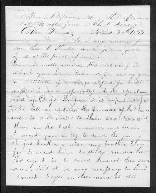 Joseph N. Bourassa to Robert Simerwell - Page