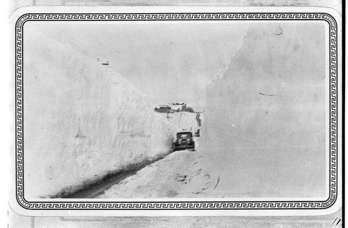 Snow covered road, Sheridan County, Kansas - Page