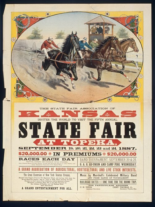 The State Fair Association of Kansas invites the world to the fifth annual state fair at Topeka, Kansas - Page