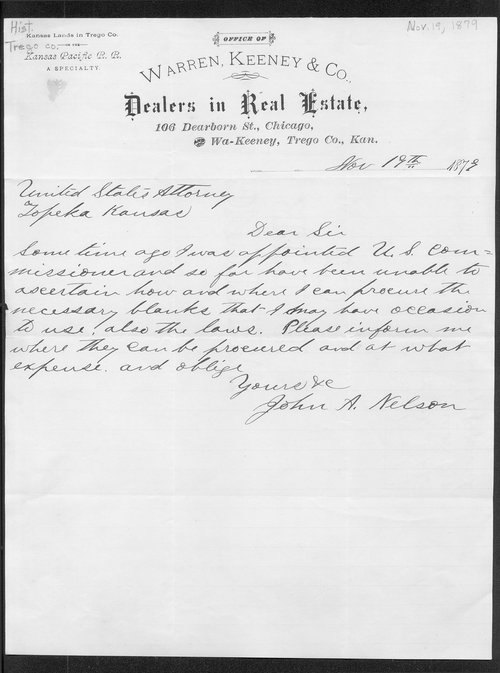 John A. Nelson to United States Attorney - Page