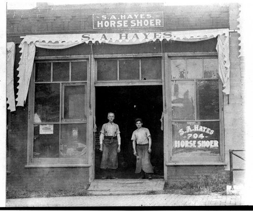S. A. Hayes Horse Shoer, Topeka, Kansas - Page
