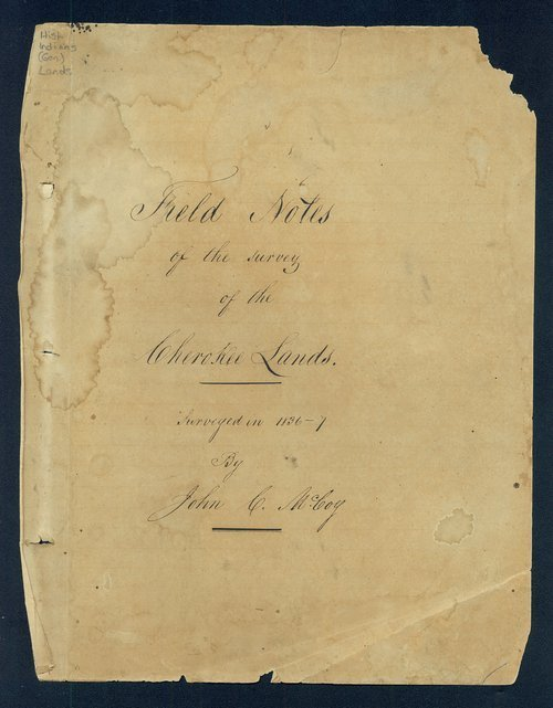 Field notes of the survey of the Cherokee Lands - Page