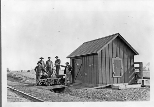 Rock Island Railroad crew members in Selden, Kansas - Page
