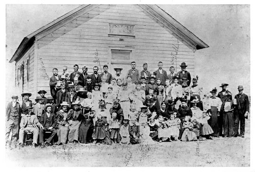 Sunday school group in Lucerne, Kansas - Page