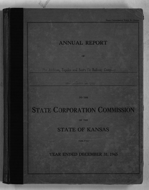 Annual reports of the Atchison, Topeka & Santa Fe Railway Company to the State Corporation Commission - Page