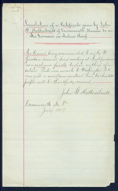 Certificate of recommendation for Sutomoni - Page