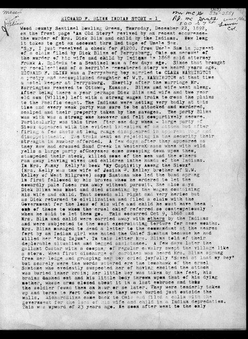 Richard F. Blinn Indian story - Page