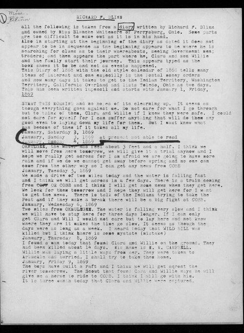 Richard F. Blinn diary - Page