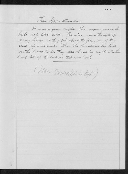 Miss Edna Clyne's manuscript stories and correspondence - Page