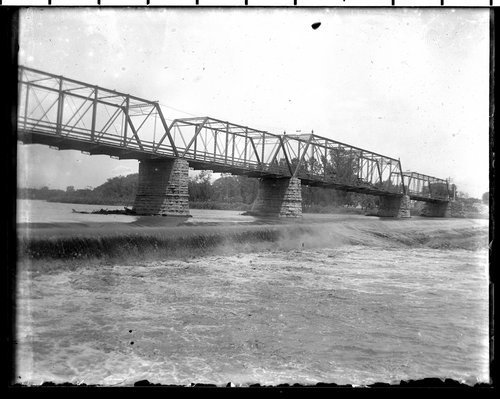 Bridge and dam on Kansas River, Lawrence, Kansas - Page