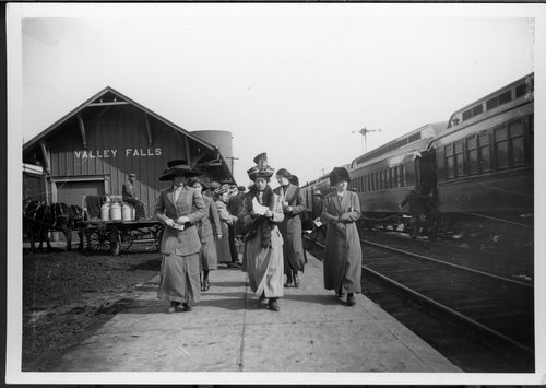 Atchiston, Topeka & Santa Fe Railway Company depot, Valley Falls, Kansas - Page