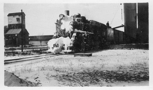 Atchison, Topeka & Santa Fe Railway engine 1080, Holyrood, Kansas - Page