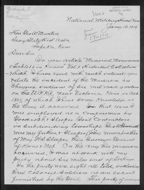 Dewitt C. Goodrich to George W. Martin - Page