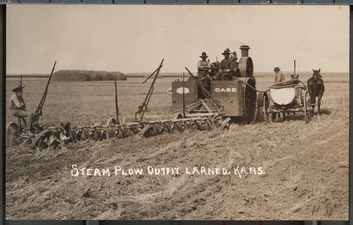 Plowing in Larned, Kansas - Page