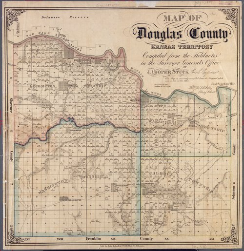 Map of Douglas County, Kansas Territory, 1857 - Page