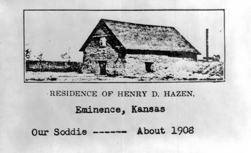 Sod house in Eminence City, Finney County, Kansas - Page