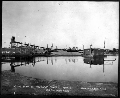 Sand pump on Arkansas River, Garden City, Finney County, Kansas - Page