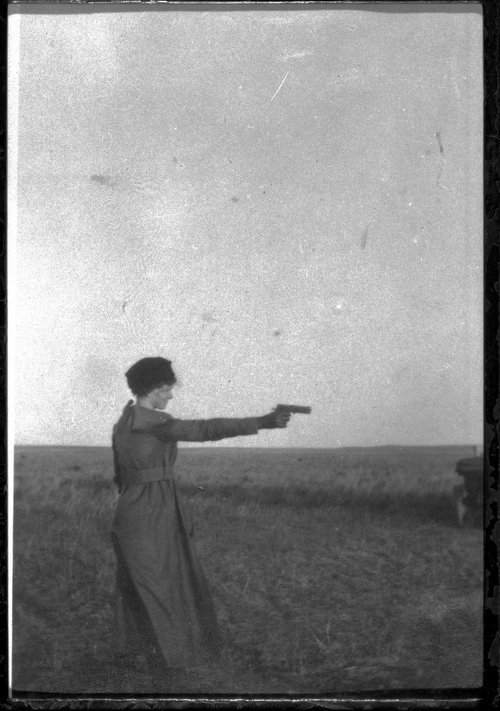 Maude Elliott, School teacher, Finney County, Kansas