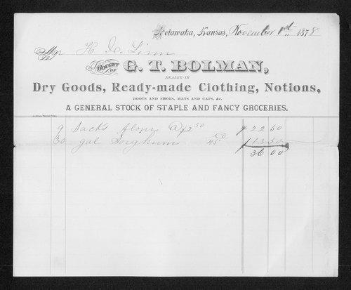 G.T. Bolman receipt - Page