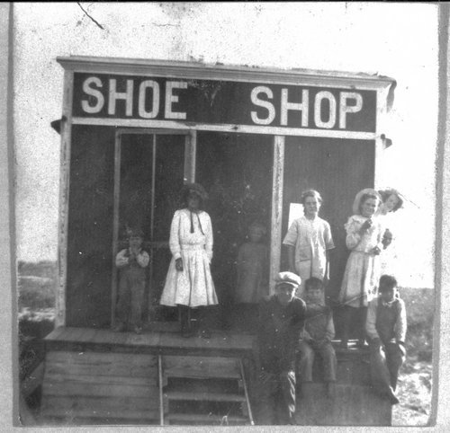 Shoe Shop School scene, Finney County, Kansas