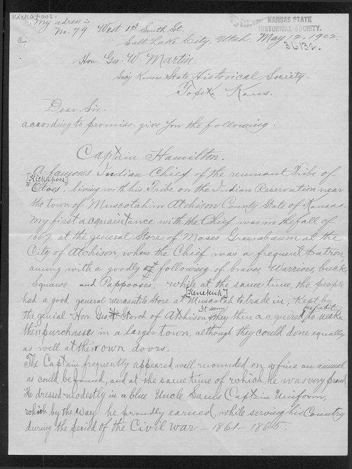 H.L. Stein to George W. Martin - Page