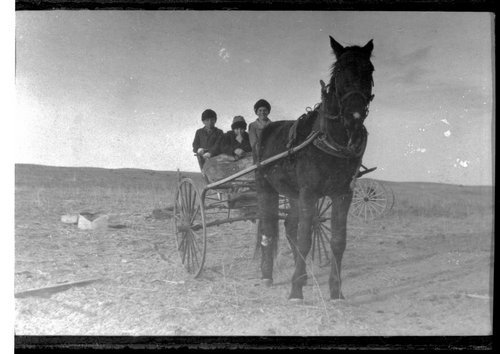 Frank Clare's children going to school, Finney County, Kansas - Page